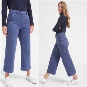 Everlane Wide Leg Crop Pants Blue